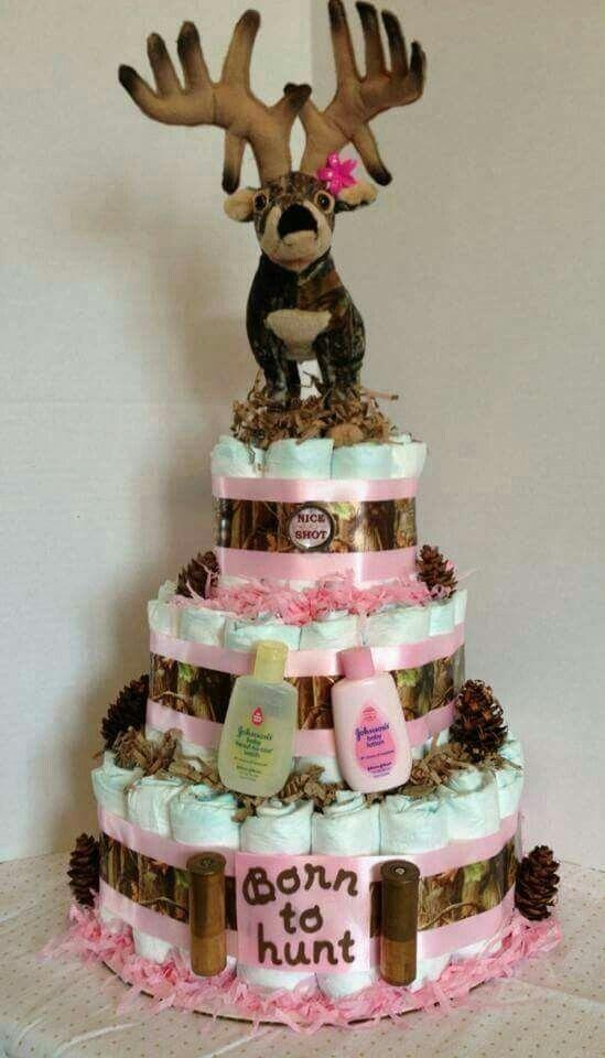 Elegant Diaper Cake Camo