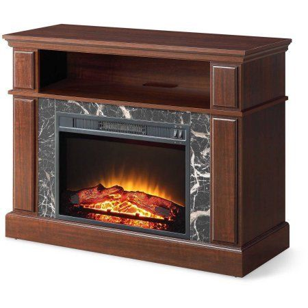 "#philanthropy The Whalen 41"" Cherry Media Fireplace is designed for TVs up to 50"" and up to 135 lbs. It creates realistic ember and flame effects and provides 1..."