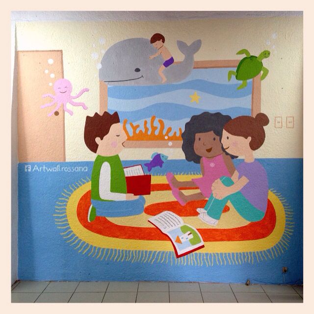 Mural que promueve la lectura en escuela de Guadalajara, Jalisco