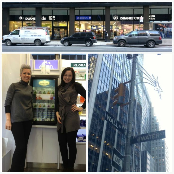 Oh yes, we're on Wall Street! You can now find Dairyface at Duane Reade 95 Wall Street at Water, NY.  Oksana and Tatiana are proud to show off the newly filled cooler, now it's up to you to empty it. Enjoy!