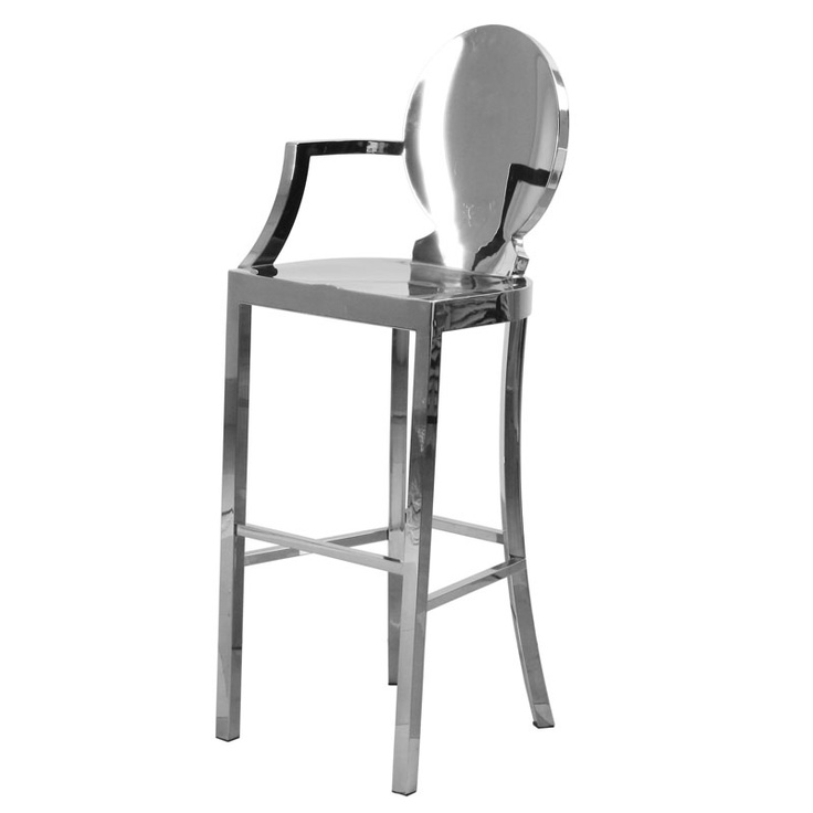 Silver Louis Iv Raised Chair Bar Stool