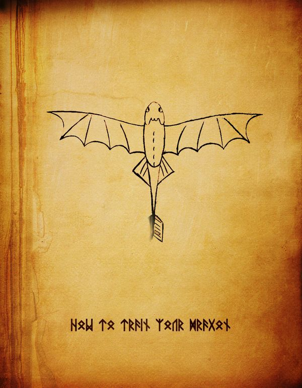 How to Train Your Dragon (2010) ~ Minimal Movie Poster by Subhajyoti Ghosh