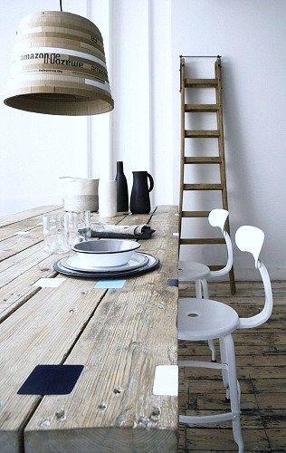 stoere houten tafel