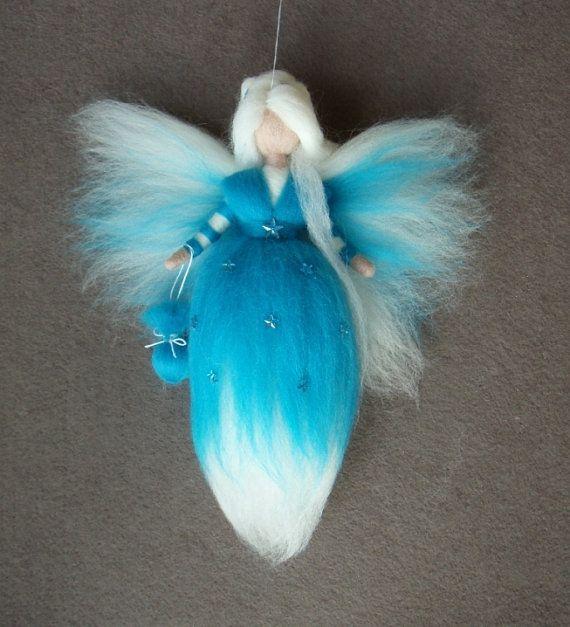 STAR DUST FAIRY Nadel Filz wolle Puppe Feen Baby Soft Skulptur Waldorf inspiriert