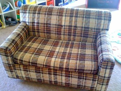 omg I bought the same couch (different ugly fabric) and I've been wanting to recover it! I'm so glad I found this!!!!