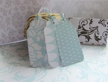 Printable Gift Tags 30  Co-ordinating set of 30 - Blues available exclusively from http://www.zibbet.com/Printables