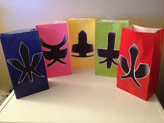 Power Ranger Samuri Inspired Party Favor Goody bags by JaysFunShop, $22.99