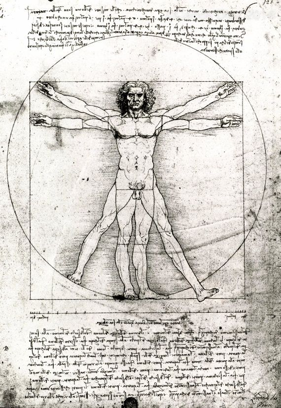 Contemporary Vitruvian man 29 x 21cm. These are handmade prints made for a later, much larger piece, subverting the illusory concept of da Vincis theory of ideal human proportions The body isnt being constrained by Leos grids.  I also have the original print, a one off image printed on a 60 Giclée printer but using Hahnemühle Fine Art which has an exceptional finish. This was printed on a large format printer at Sir John Cass School of Art/ London Metropolitan University in Aldgate East…