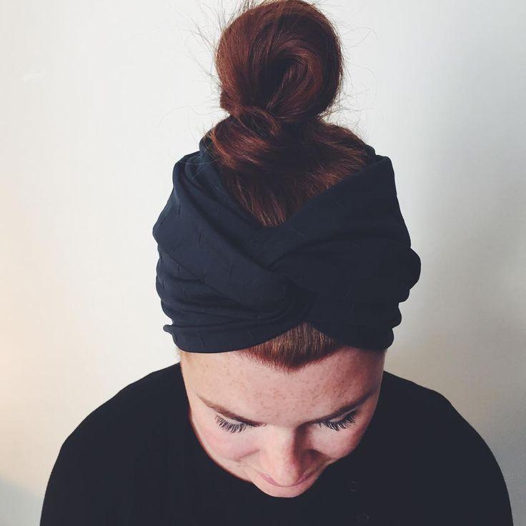 """Cosy earwarmers for fall in a new black fabric . #fogandcedar #handmade #CPH #fall"""