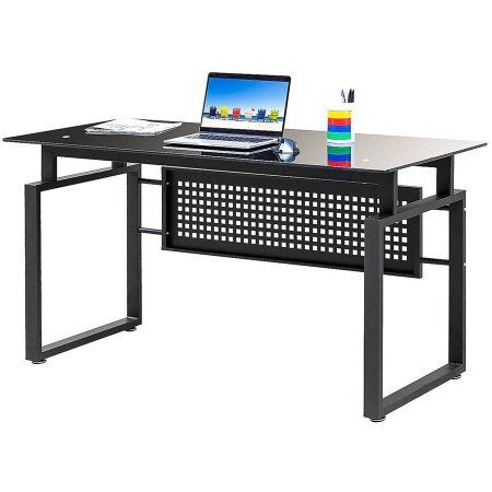 Merax Simple Design Black Glass Computer Desk Office Table Workstation