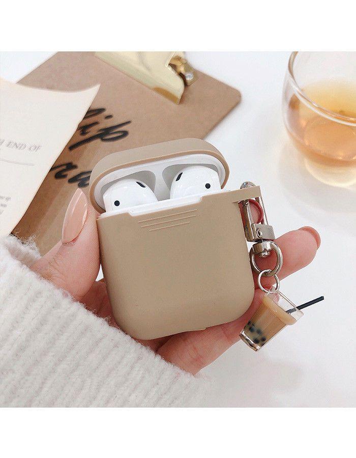 Aion Milk Tea Silicone Apple Earpods Earphone Case Cover Yesstyle Earphone Case Phone Case Accessories Earbuds Case