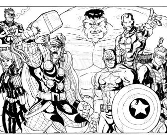 Avengers Coloring Pages Kids Printable