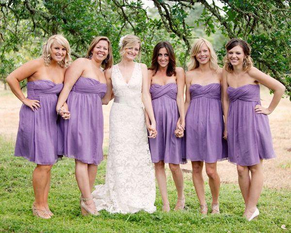 Purple: The Color for Bridesmaids 2014 | http://www.tulleandchantilly.com/blog/purple-the-color-for-bridesmaids-2014/