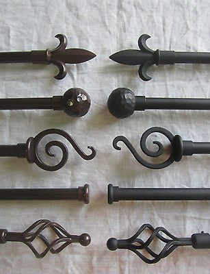 "Urbanest Classic Forged Iron Window Drapery Curtain Rod Sets, 3/4"" Adjustable in Home & Garden,Window Treatments & Hardware,Curtain Rods & Finials 