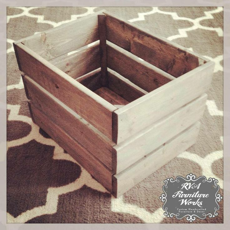 #customfurniture. See More. Wooden Crates ~ Endless Possibilities!  #classicgray