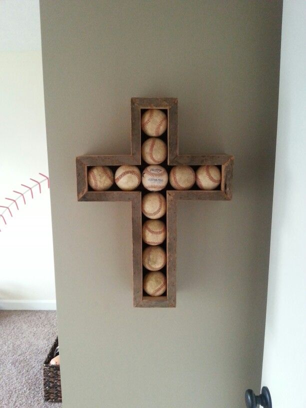 Barnwood Baseball Cross For Jays Bigboy Room Mitered Front Edge Of To Hide