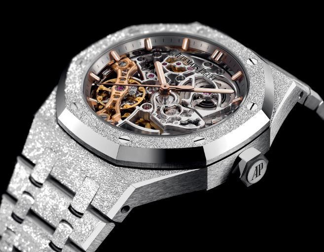 Ap Royal Oak Double Balance Wheel Openwork Frosted Gold Audemars