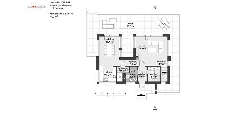 Projekt domu HomeKONCEPT 17 www.homekoncept.pl
