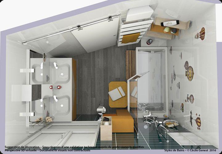 Simulation 3d De Salle De Bain Pop Couleur 01 Salle De Bain Carrelage Carrelage Salle De Bain