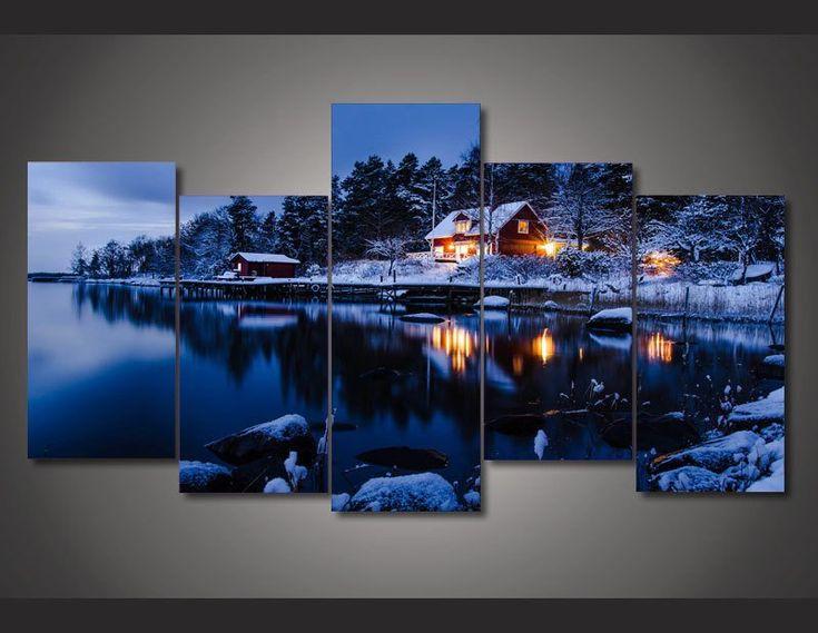 Sweden Winter Landscape Canvas Print – TC Discount Store
