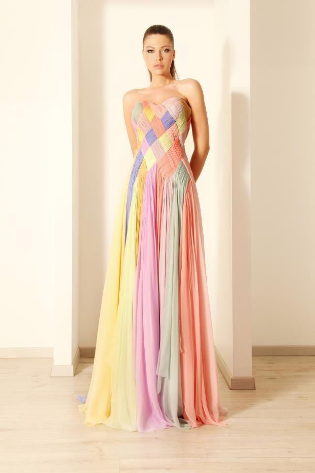 Rami Kadi patterned pastel dress.  Gorgeous