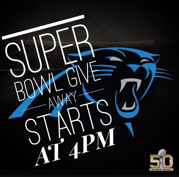 """Ways to win!  1- Post a pics in your Super Bowl outfit and tag us on the pic and in the caption 2- Take a selfie """"dabbin"""" when the panthers score their first touchdown and tag us on the pic and in the caption Winners get $50.00 towards their next senior photo session or a free BFF photo session  *cant be combined with any other specials or discounts #micheleparsleyphototgraphy"""