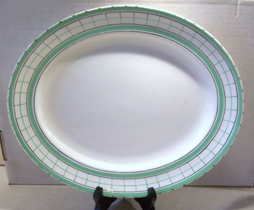 British Anchor Cottage Green Tea Serving Plate
