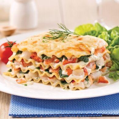 Lasagne aux fruits de mer version mijoteuse - Soupers de semaine - Recettes 5-15 - Recettes express 5/15 - Pratico Pratique