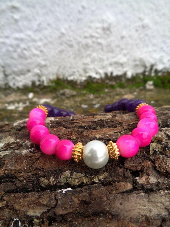 Arabian Nights OOAK friendship bracelet / Bohemian bracelet / Summer bracelet/ Neon bracelet /Indian jewelry / Ethnic bracelet