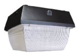"""40W 12"""" Square LED Garage Canopy (HiLumz) - LED Parking Garage Canopy Fixtures – Designed as energy efficient lighting solutions that features uncompromising safety & security in parking garages, LED canopy lights replaces high watt metal halides fixtures. For more information visit at http://usa-leds.com/led-canopy/"""
