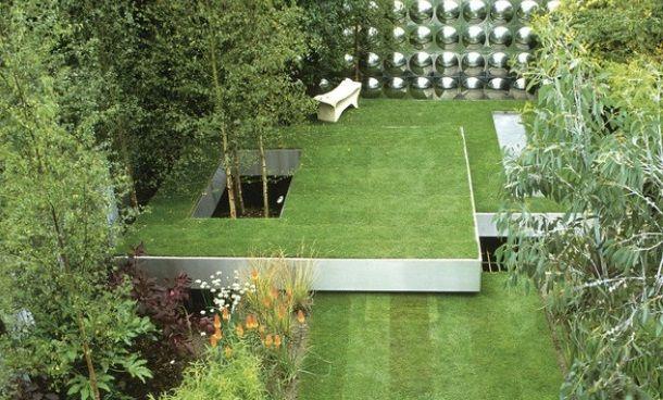 Дизайн двора частного дома, фото