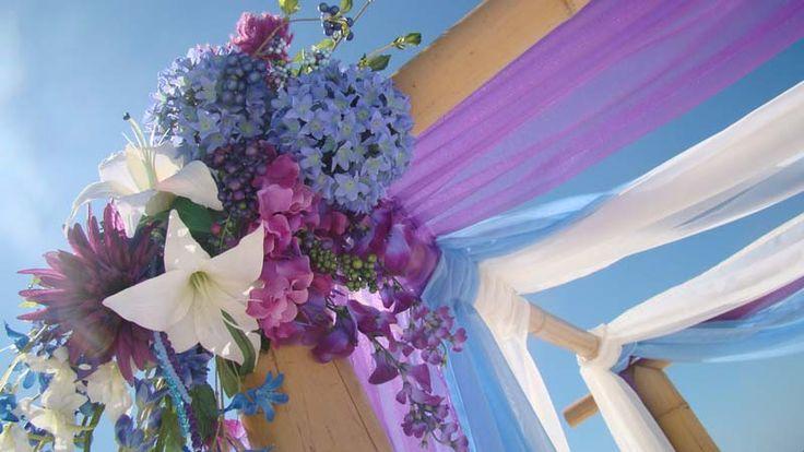 #purple beach wedding # #light blue wedding