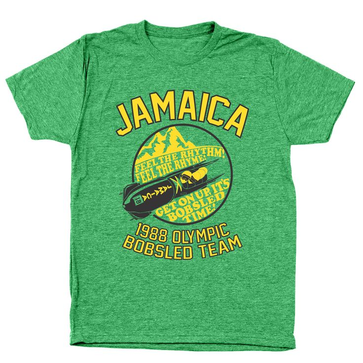 Jamaica 1988 Olympic Bobsled Team Men's Tri-Blend T-Shirt
