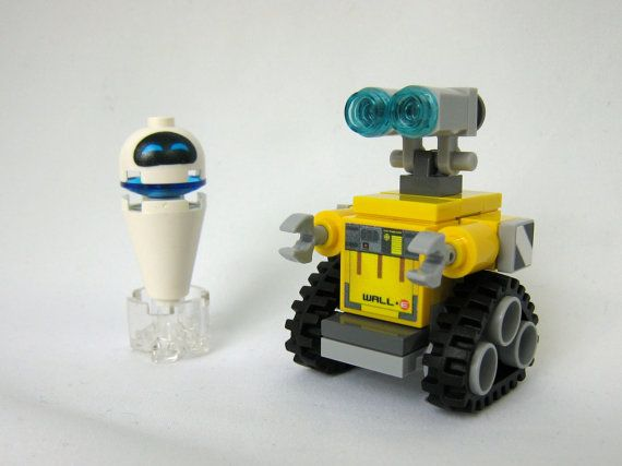 He would love this! Lego Wall-E Robot and Eve - Custom Made Figures - New