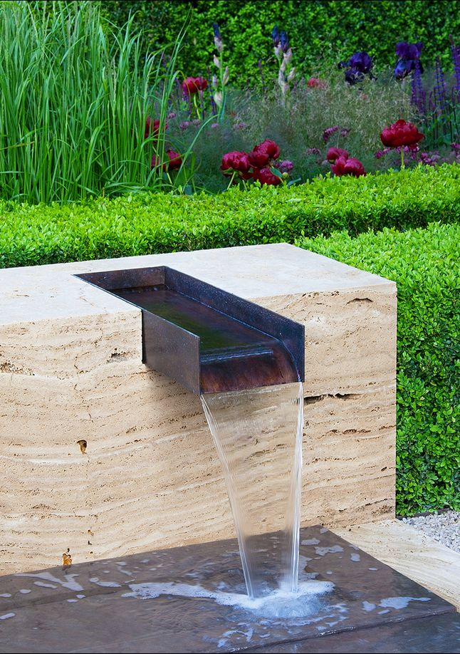 Cor-ten water feature