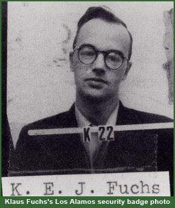 Klaus Fuchs's Los Alamos security badge photo
