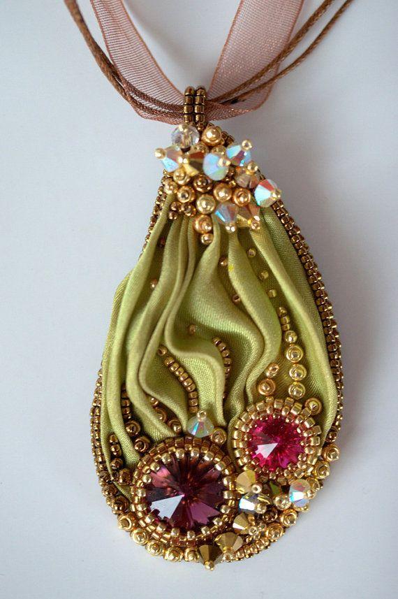 ~~Shibori Beaded Necklace Colors of India by ZuziHake~~