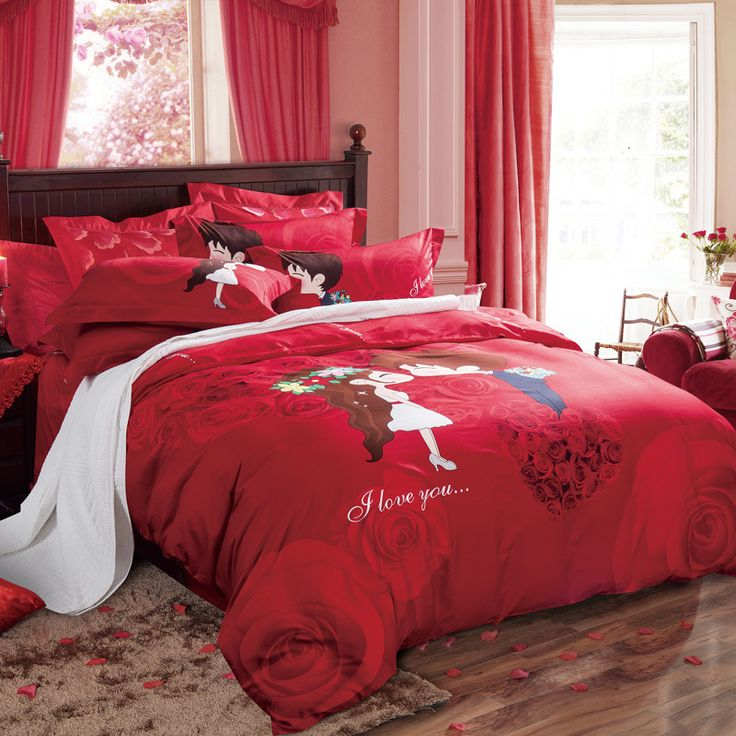 arnigu chinese style rose flower wedding red bedding sets queen king size bedclothes 100 cotton red bedding sets100 cotton duvet stylebed