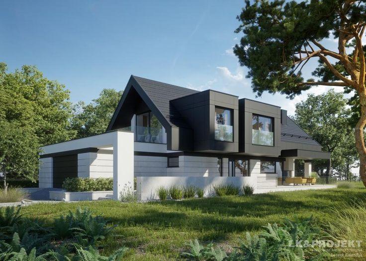 Projekty domów LK&Projekt LK&1336 wizualizacja 9
