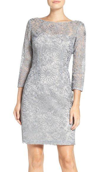 Aidan Mattox Soutache Mesh Sheath Dress available at #Nordstrom