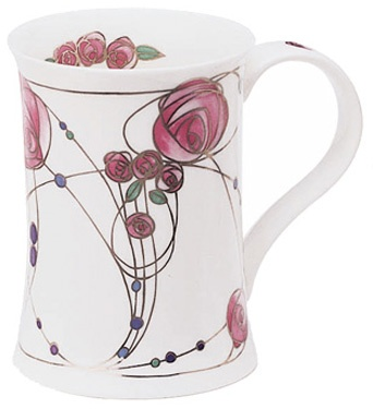 Dunoon - Fine Bone China Mugs - Cotswold Shape : Rothsay Pink
