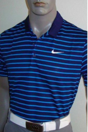 NWT Spring 2016 Nike Icon Stripe Tour Mens Golf Polo Shirt $75 725531 410 SZ S Clothing, Shoes & Accessories:Men's Clothing:Athletic Apparel #nike #jordan #shoes $48.60