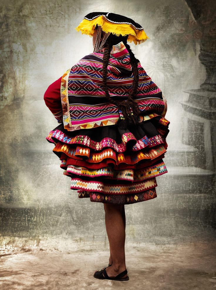 Peruvian traditional costume. photo by Mario Testino