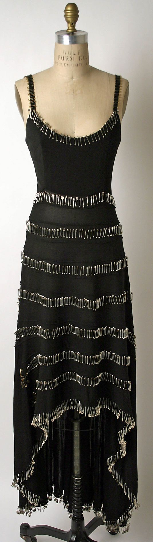 Dress  Todd Oldham  (American, born 1961)  GREAT VINTAGE DRESS    LOVE THE SAFETY PINS!