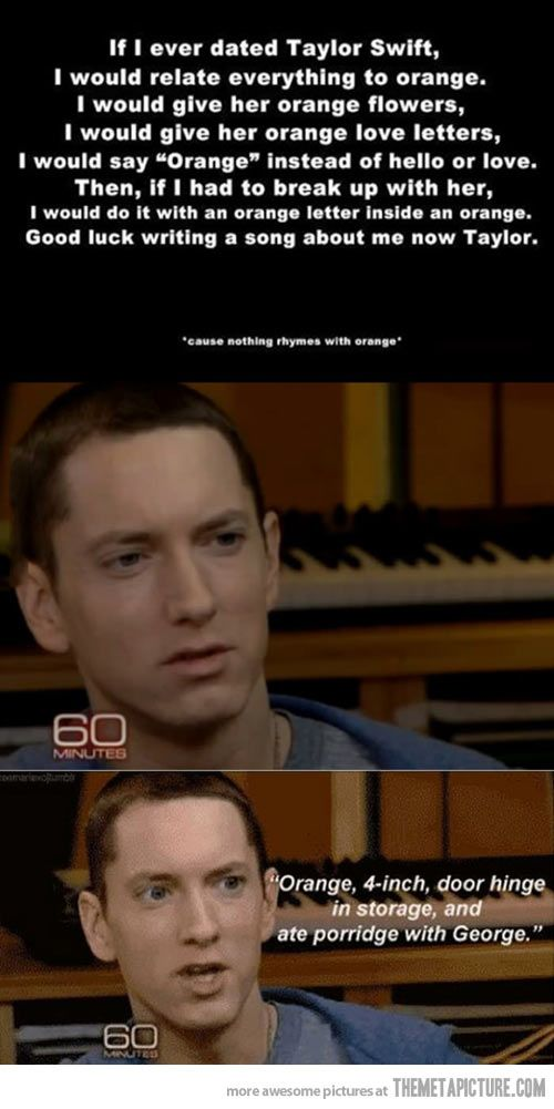 If I ever dated Taylor Swift by Eminem. Not sure if this is real, but it's funny.