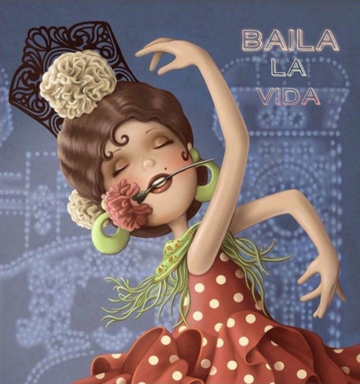 Bailarina de flamenco, día de la mujer