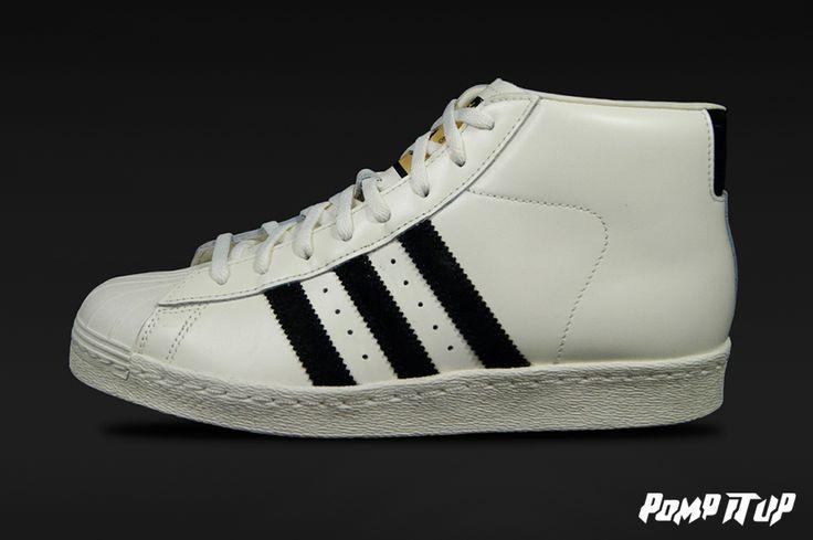 Adidas Pro Model Vintage DLX (OWHITE/CBLACK/OWHITE) For Men Sizes: 40 to 46 EUR Price: CHF 200.- #Adidas #ProModel #VintageDLX #AdidasProModel #AdidasVintage #Sneakers #SneakersAddict #PompItUp #PompItUpShop #PompItUpCommunity #Switzerland