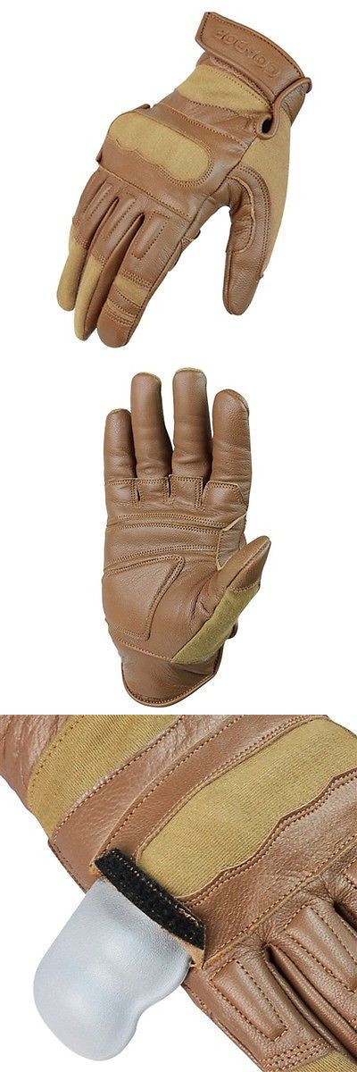 Tactical Gloves 177898: Condor Outdoor Kevlar Tactical Hunting And Military Padded Leather Glove Tan Large BUY IT NOW ONLY: $34.95