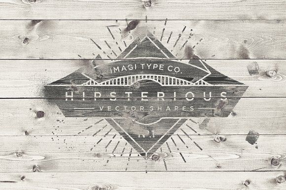 Hipsterious Vector Shapes by Imagi Type Co. on @creativemarket