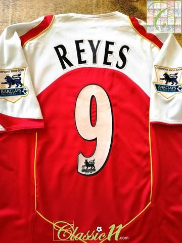 a9ed4b5c Official Nike Arsenal home football shirt from the 2004/05 season. Complete  with Reyes #9 on the back of the shirt in official flock letteri…